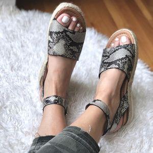 Wedge Ankle Strap Espadrille Sandal